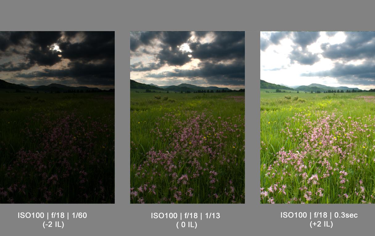 HDR trois images