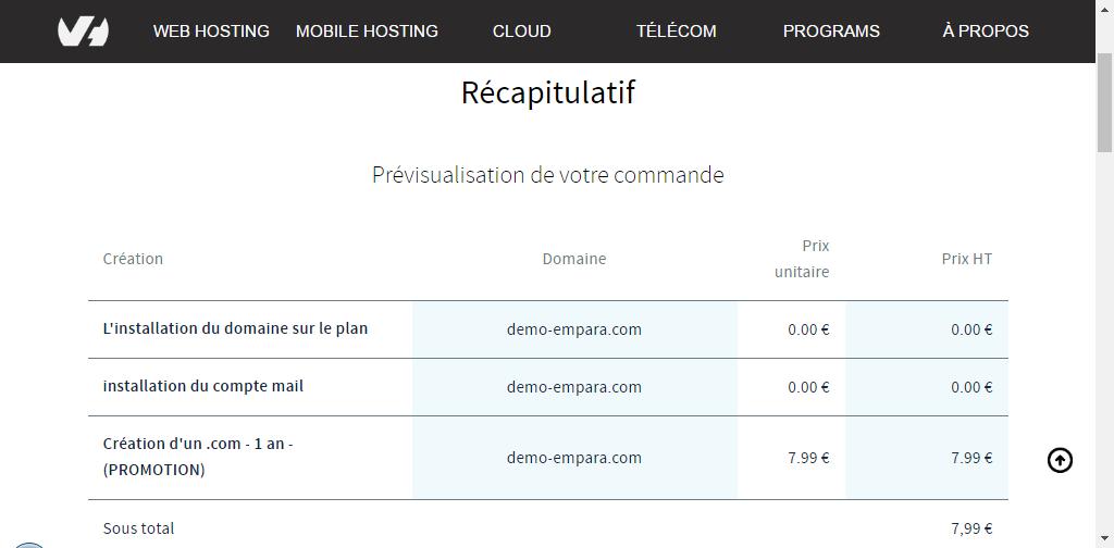 Acheter son nom domaine sur OVH : Etape 06