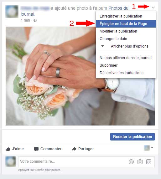 Comment administrer page pro Facebook
