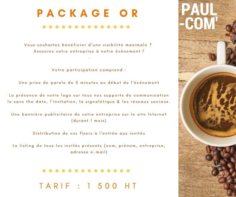 Astuce Creez Des Packages Pour Le Dossier De Partenariat Cest Toujours Plus Vendeur Paul A Cree Package Bronze Argent Et Or