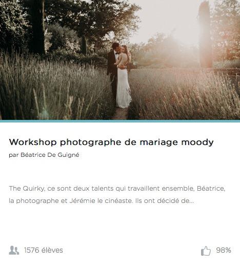 workshop photographe mariage moody