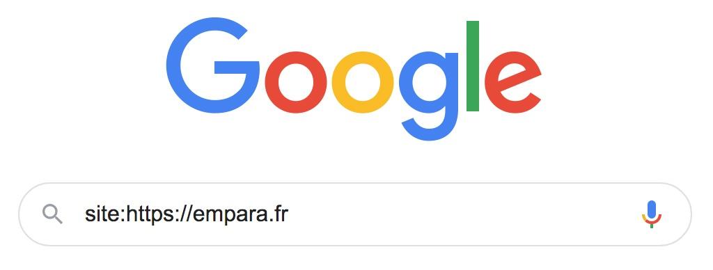 """Recherche """"site:"""" sur Google"""