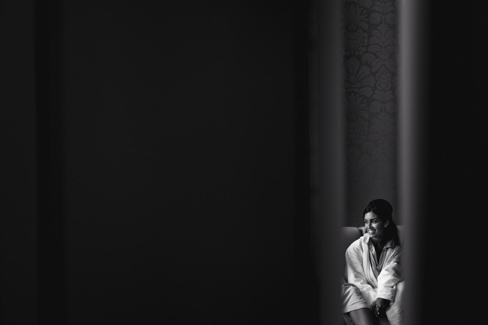 règles de composition et espace négatif, photo noir et blanc