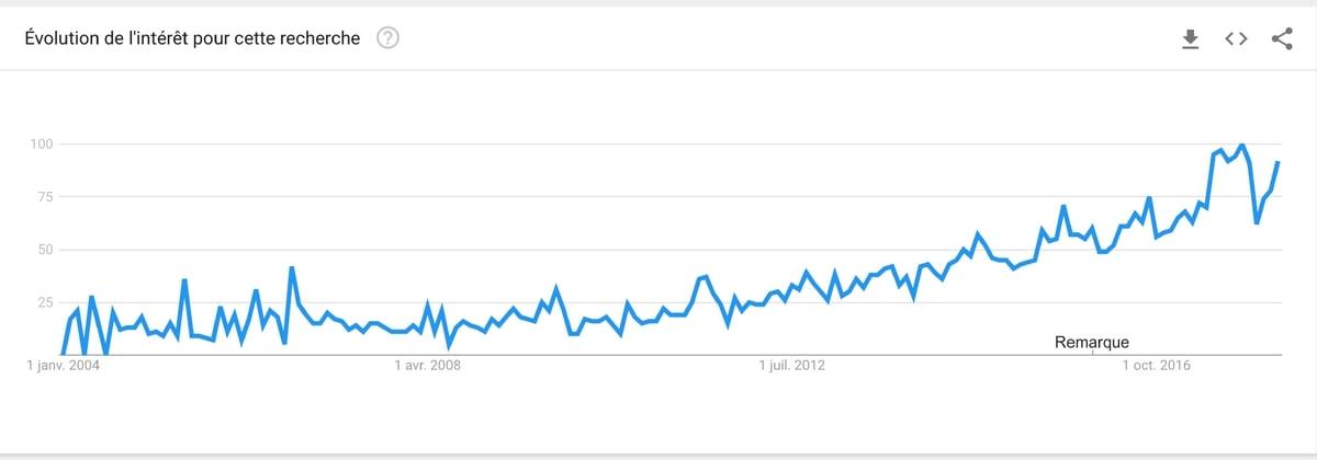 créer un site de niche et analyse des mots-clés avec Google Trend